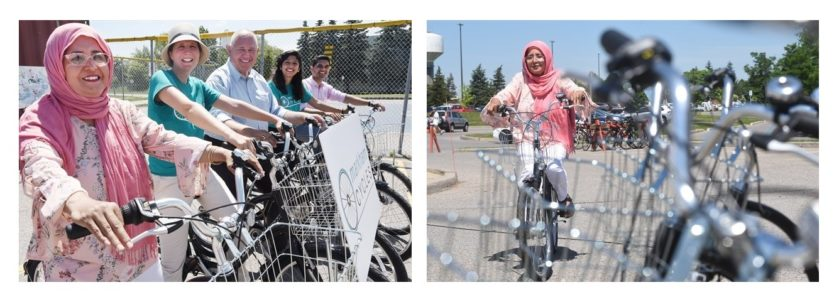 Afghan women ride bikes at Markham Cycles