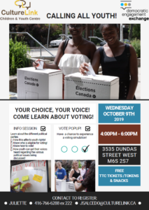 Flyer Youth Vote Pop Up