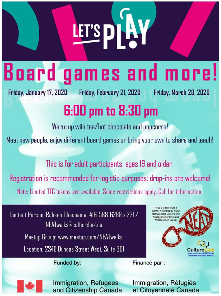 Flyer Lets Play Board Games