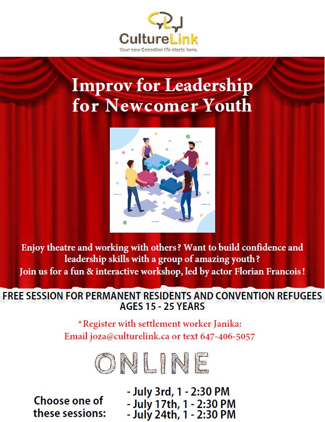 Event Flyer Improv for Leadership